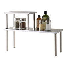cook n home 2tier counter storage shelf stainless steel pantry and