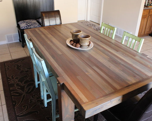 Driftwood Butcher Block Dining Table Products