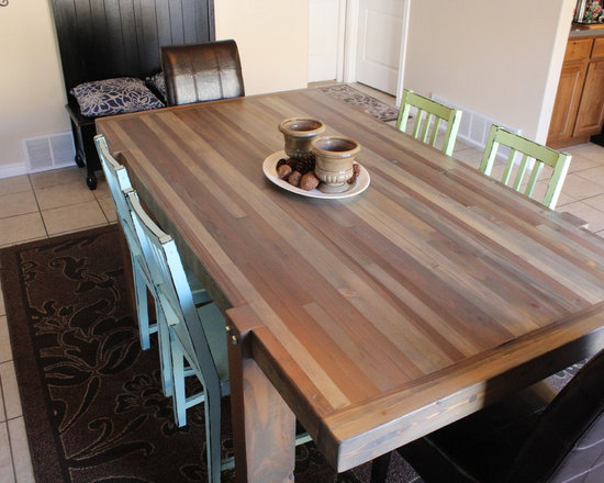 Driftwood Butcher Block Dining Table