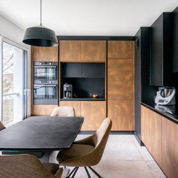 Olivier & Sandrine - Cuisine noire et bois