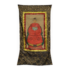 Chinese Hand Painted Emperor Kang Xi's Wife Portrait Hanging Decor