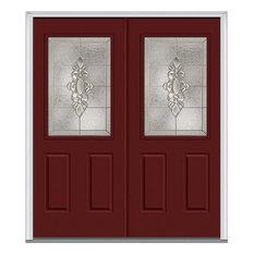 """Heirloom Master 1/2 Lite 2-Panel Fiberglass Double Door 66""""x81.75"""" LH In-Swing"""