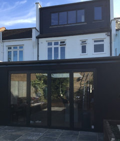 White Or Anthracite Grey Window Bifold Door On Extension
