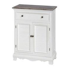 Large Louisiana Single Drawer Cabinet, Brown