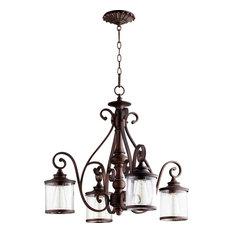 Quorum San Miguel 4-Light Nook Chandelier, Vintage Copper