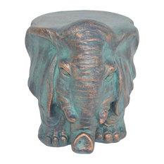 GDF Studio Salome Elephant Lightweight Concrete Garden Stool