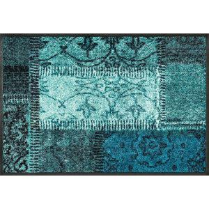 Vintage Patches Door Mat, Turquoise, 75x50 cm
