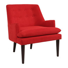 Abbyson Living Baron Mid-Century Accent Chair, Red