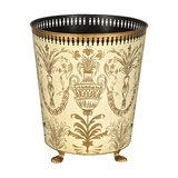 Festoon Waste Paper Bin With Feet, Ivory