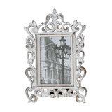 Ornate White Freestanding Photo Frame