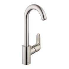 Hansgrohe Focus Bar Faucet, 1.5 GPM, Steel Optic