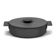 Enameled Cast Iron Pot, Black, Xsmall