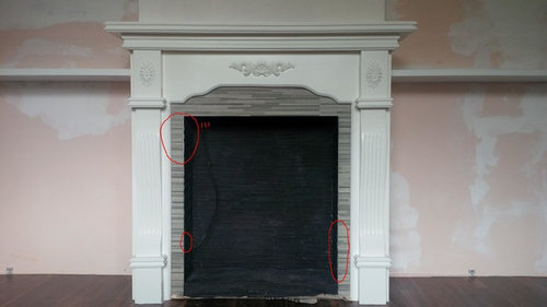 Need Help With This Fireplace Tile Edges Are Rough