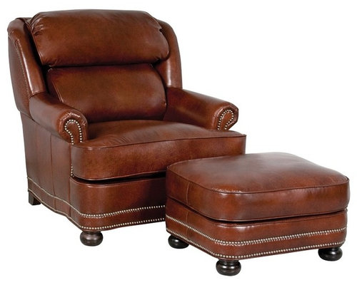 - Leather Chairs And Ottomans