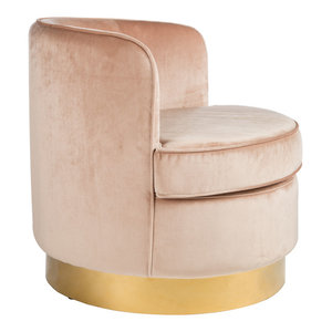 Abbyson Living Roscoes Tufted Velvet Chair With Acrylic