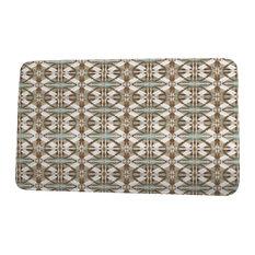 "Intercoastal Waterway Beach Tile Geometric Print Bath Mat, Brown, 18""x30"""