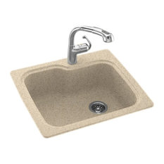 Swan - Swan 25x22x9 Solid Surface Kitchen Sink, 1-Hole, Bermuda Sand - Kitchen Sinks