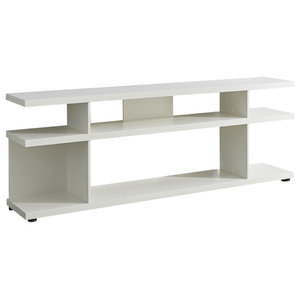 Lines TV Stand, White