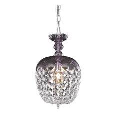 Rococo 1 Light Pendant in Purple
