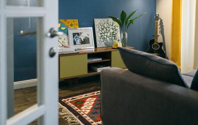 Houzz тур: Двухкомнатная квартира с килимами в доме серии II-14