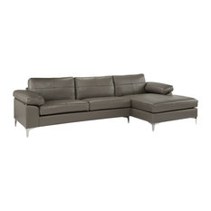 527a8211f879 Contemporary L-Shape Leather Sectional Sofa