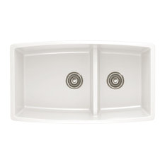 blanco blanco 441310 19x33 granite double undermount kitchen sink white - White Undermount Kitchen Sink