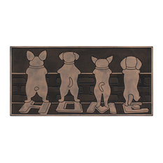 "A1HC First Impression Dogs Home Rubber Mat, Beautifully Copper Finished 18""x30"""