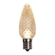 Warm White LED C9 Christmas Light Bulbs - Pack of 25