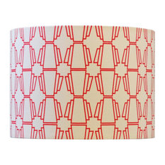 Geo Drum Table Lampshade, Red, Large