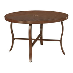 "Home Styles Key West 48"" Round Patio Dining Table in Chocolate"