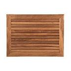 Bathroom And Shower African Teak Wood Mats Tropical