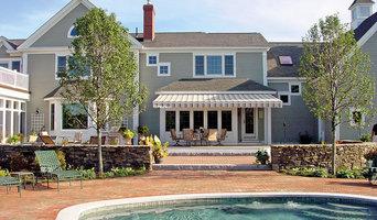 Backyard 8700 Retractable Patio Awning overooking pool