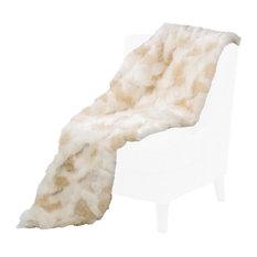 Brook Faux Fur Throw by Michael Amini