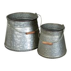 Metal Buckets, 2-Piece Set