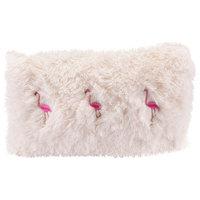 Dancing Flamingos Pillow, Ivory, Pink