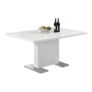 Monarch 35  x60   Dining Table, Glossy White Finish