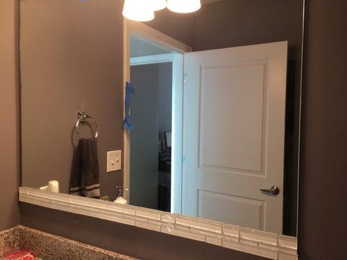 Need Help Gluing Gl Tiles On Builder Mirror