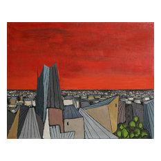 Alvaro Guillot, De Rouge Sur La Ville, Oil Painting