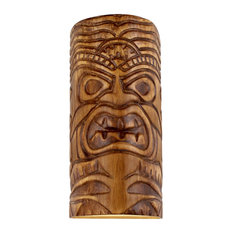 Tiki Wall Sconce, Amber Palm, Incandescent