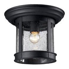 Z-Lite 515F 1 Light Outdoor Flushmount Ceiling Fixture