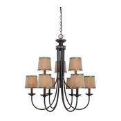 Traditional 9-Light Up-Light Chandelier from the Spencer Collection