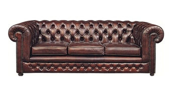 3 Seater Chesterfield Leather Sofa