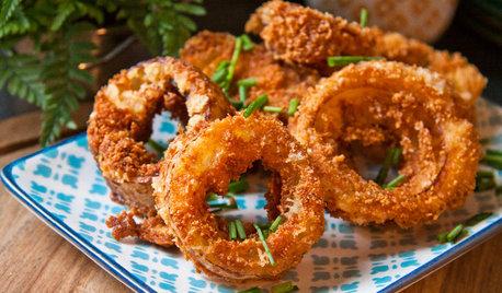 Aux fourneaux : Des onion rings au fromage sans gluten