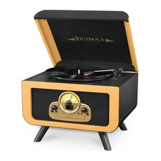 5-in-1 Tabletop Record Player With Bluetooth, CD Player & 3-Speed Turntable