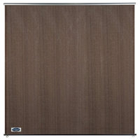 Cool Area 6'x6' Window Roller Shade Blind With Hardware Kit for Patio, Brown