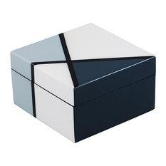 Lacquer Small Square Box, Natural Deco