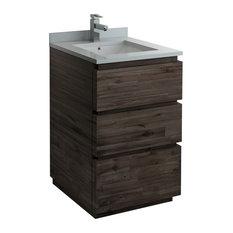 Formosa Floor Standing Modern Bathroom Cabinet With Top & Sink 24-inch