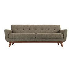 Carlton Upholstered Fabric Sofa/Oatmeal