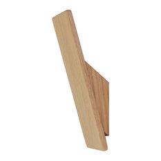 Wooden Wall Hooks, Oak, Set of 3
