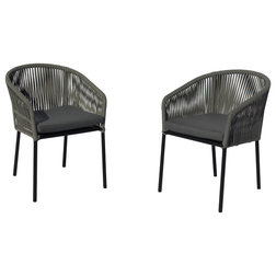 Tropical Outdoor Dining Chairs by Courtyard Casual